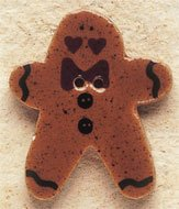 43019 - Ginger Bread Man with Bow Tie - 1in x 1 1/4in